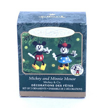 Hallmark Keepsake 2000 Mickey and Minnie Mouse Miniature Disney Ornament... - $21.36