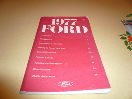 1977 Ford Owner's Manual Vintage - Glove Box - $8.79