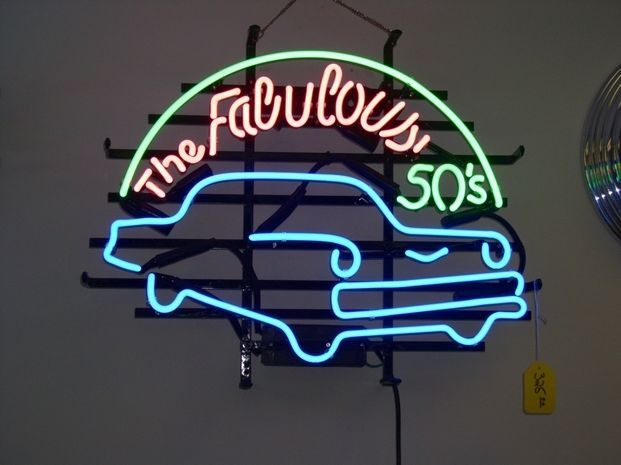 "New The Fabulous 50's Neon Sign 24""x20"" Ship From USA"
