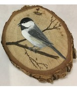 Chickadee wood slice magnet made-to-order - $15.00