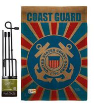 Coast Guard Burlap - Impressions Decorative Metal Garden Pole Flag Set G... - $36.97