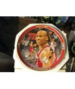 "17#  Rare Bradford Exchange/Upper Deck  Michael Jordan Plate, ""Record 72... - $41.57"