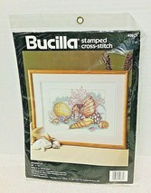 1992 Dimensions Counted Cross Stitch MIP Sea Shells 40675 Mint Shape Sea... - $29.21