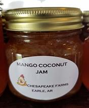 Mango Coconut Jam 4 Oz Size Arkansas Grown And Made Organic Great Gift I... - $3.00