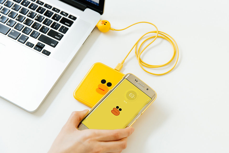 LINE FRIENDS Character Wireless Charging Pad Charger SALLY Micro 5-Pin Android