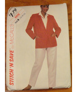 Misses Jacket Pants 12 14 16 McCall's Pattern 9515 size B   - $6.75