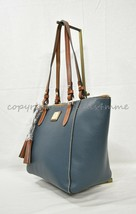 NWT! Dooney & Bourke Leather Maxine Tote / Shoulder Bag in Steel Teal $228 - $169.00
