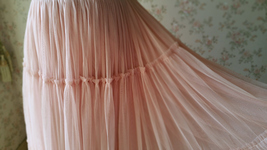 BLUSH Tiered Midi Skirt Blush High Waisted Tiered Tulle Skirt Plus Size image 8