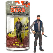 Year 2013 Amc Tv Series Walking Dead 5 Inch Figure - The Governor Phillip Blake - $24.99