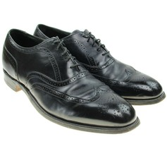 Bostonian Crown Windsor Men's Black Leather Wingtip Brogue Shoe Vtg USA Sz 12 D - $44.50