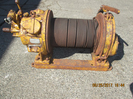 INGERSOL-RAND AIR TUGGER WINCH model K4UL  W/PARTIAL DRUM OF CABLE (id:356) - $3,465.00