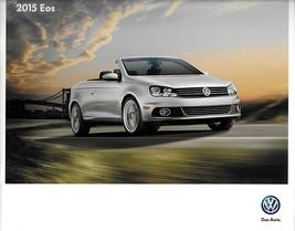 2015 Volkswagen EOS brochure catalog US 15 VW Komfort Executive FINAL Ed... - $8.00