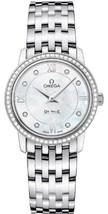 Omega DeVille Prestige Mother of Pearl Diamond Stainless Steel Ladies Watch 4241 - $8,488.99