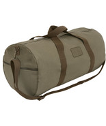 Olive Drab Canvas Gym Duffle Carry Shoulder Bag with Loop Patch - $19.99