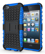 Hard & Soft Rubber Hybrid Case Cover For Apple iPod Touch 6th Gen - Blue  - $4.99