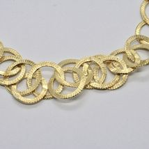 HALSBAND 925 SILBER FOLIE GOLD MIT KREISE BY MARIA IELPO MADE IN ITALY image 4