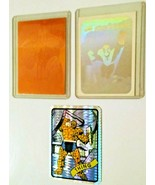 Cosmic Spiderman Hologram Card 1990 - Impel 1992 Thing - Thing Prism Decal - $15.00
