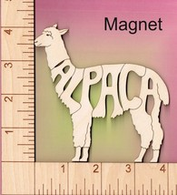 Alpaca laser cut and engraved wood Magnet - $5.00