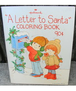 Vintage Hallmark Christmas Coloring Book A Letter To Santa 90 Cent Cover - $18.00