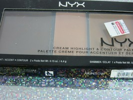 NYX Cream Highlight and Contour Palette CHCP03 Deep NEW - $9.85