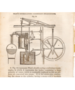 Watts Double Acting Condensing Steam Engine 1853 Text Art Illustration  - $8.99
