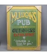 Mulligan's Pub Bar Panneau Guinness Is Good pour Vous Homme Cave 30.5cmx... - $48.67