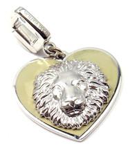 Rare! Louis Vuitton 18K White Gold Be Well Lion Sapphire Enamel Charm Pendant - $3,600.00