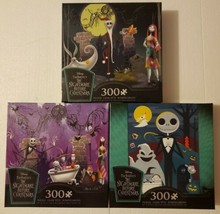 Disney Nightmare Before Christmas Jigsaw Puzzle Set of 3 Puzzles 300 Pcs Ceaco - $69.29