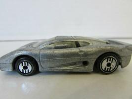MATTEL HOT WHEELS 1992 SILVER GREY SPORTS CAR METALLIC MADE IN MALAYSIA  H2 - $2.89
