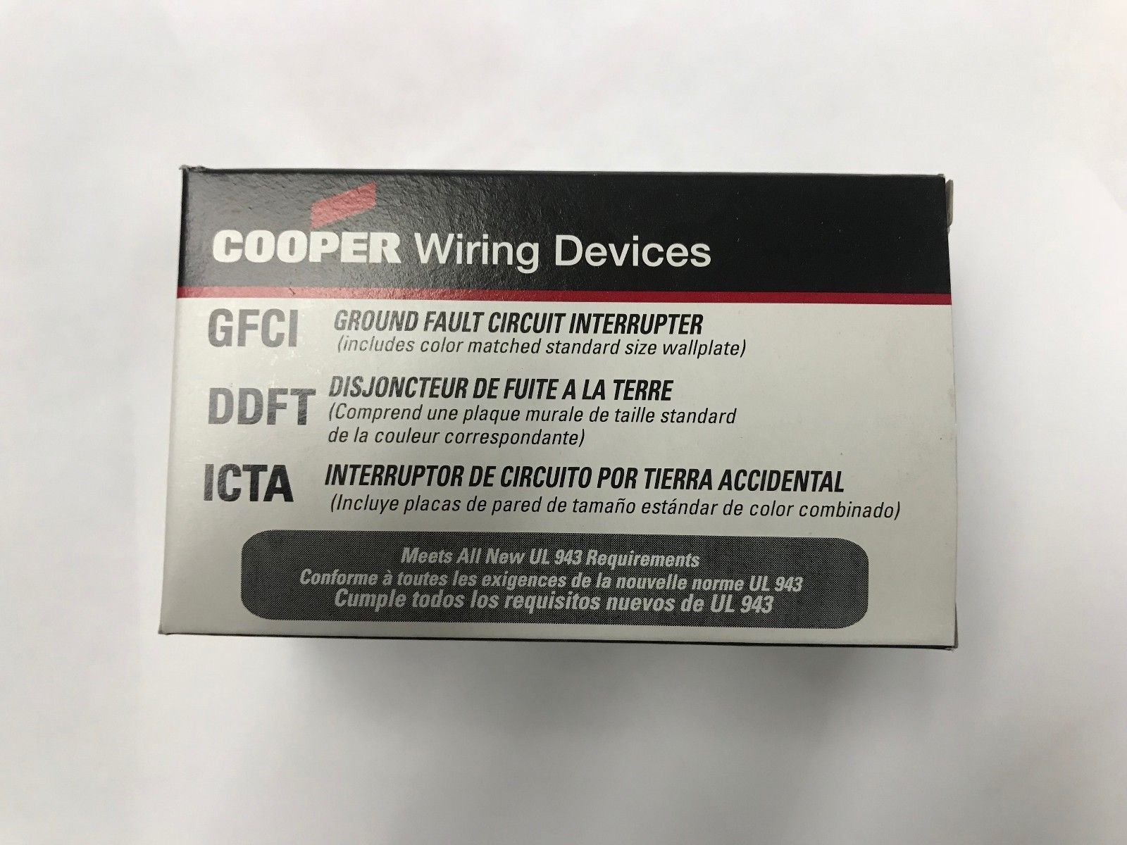 Cooper Wiring Vgf15fbk Gfci Decorator Duplex 15a 125v Black Nafta Equipped With Ground Fault Interrupter Gfi Outlets Or Circuit 57