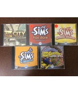 PC Video Computer Game Lot Of 5 Sims Games Hot Date Coaster Vacation Cit... - $14.84
