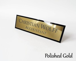 Desk Name Plate Personalized Bar Acrylic Office Custom Engraved Sign Pla... - €24,47 EUR