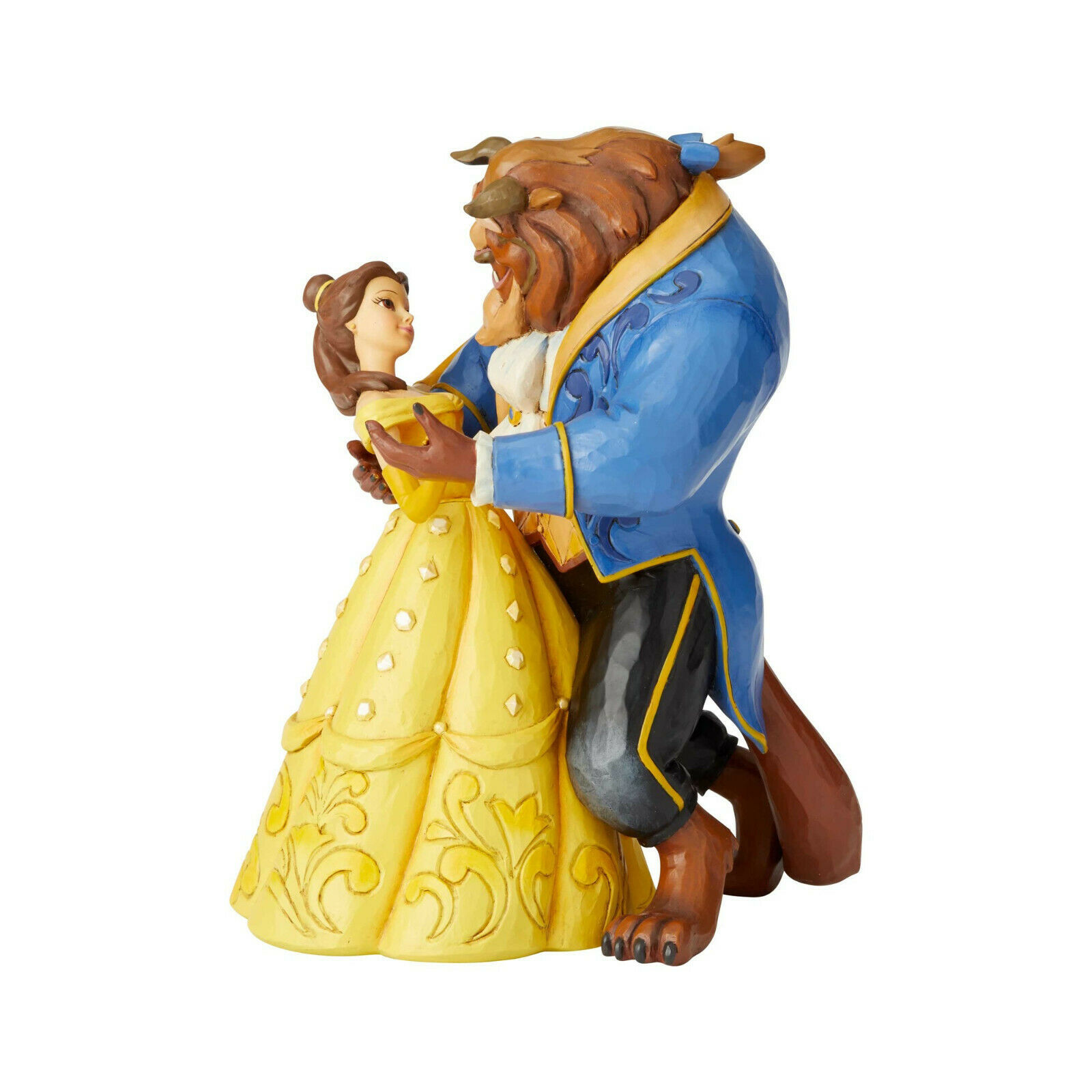 "9"" Belle & Beast Dancing ""Moonlight Waltz""  by Jim Shore Disney Traditions"