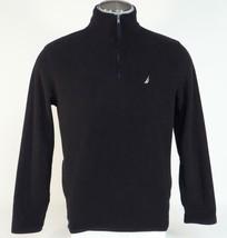 Nautica Signature Black Fleece 1/4 Zip Pullover Jacket Mens NWT - $56.24