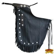 Bull Riding Chinks Chaps Adult Pro Rodeo Bronc Genuine Leather U-K849 - $179.99