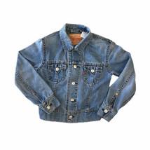 Vintage Levi's Type 1 Denim Women's Trucker Jacket Iconic Blue Size Large - $37.08