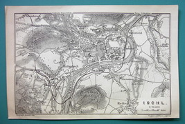1905 MAP Baedeker - AUSTRIA Ischl City Plan - $6.71