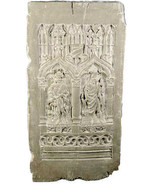 """Gothic Door Panel Wall Sculpture relief plaque 34"""" - $137.61"""