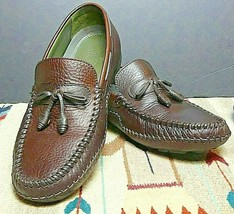 """Men's H.S. Trask """"Lone Buffalo II"""" Bison Leather Loafer/Driving Sz.10.5W... - $66.28"""