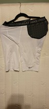 Nike 401934 101 Pro Combat HyperStrong Hip Tail Football Shorts White Sz Large - $27.72
