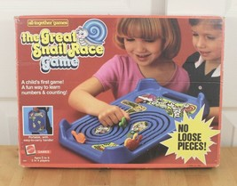 Vtg 1985 Mattel The Great Snail Race All Together Portable Counting Board Game - $59.95