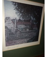 English Tudor Cottage Offset Lithograph Signed By Tom Caldwell - $60.00