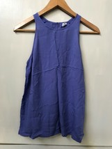 Old Navy Blue Tank Shell Top Keyhole Back Button NWT Size XS - $12.95