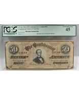 1864 $50 CT-66 Confederate Civil War Counterfeit Banknote Hoard PC-182 - $331.78