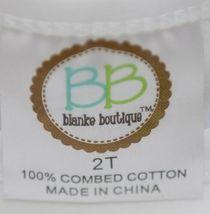Blanks Boutique Girls White Long Sleeve Ruffle Tee Shirt Size 2T image 4