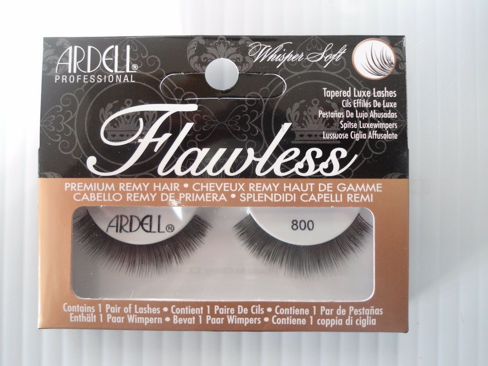 Primary image for Ardell Striplashes Flawless Style 800 Black Tapered Luxe Lashes (Pack of 4)