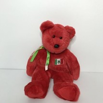 "TY 1999 Osito Beanie Buddies Collection Teddy Bear Plush Italian Flag 14"" Red - $18.80"