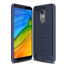 Carbon Fiber Phone Cases For Xiaomi Redmi Case (Navy Blue Case) - $14.99