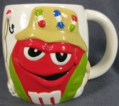 Red M&Ms M&M Coffee Mug Fisherman Figural Cup 20oz - $17.95