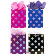 10 1/2W x 13H x 5 1/2G Large Printed On Hologram Polka Dot Bags With Bro... - €189,80 EUR